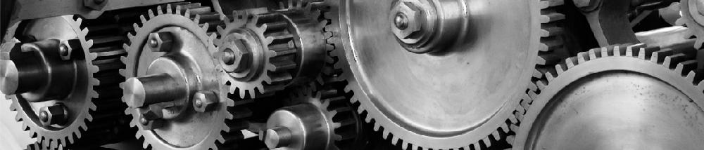 Gears of an industrial machine